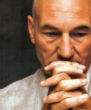 Patrick Stewart, prayerful