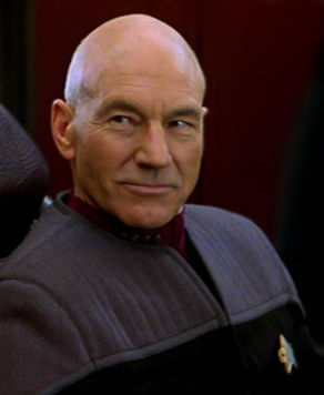 Jean Luc Picard, Patrick Stewart, Star Trek Next Generation, fiction
