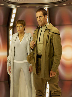 Scott Bakula, Jolene Blalock, Jonathan Archer, T'Pol, Star Trek Enterprise