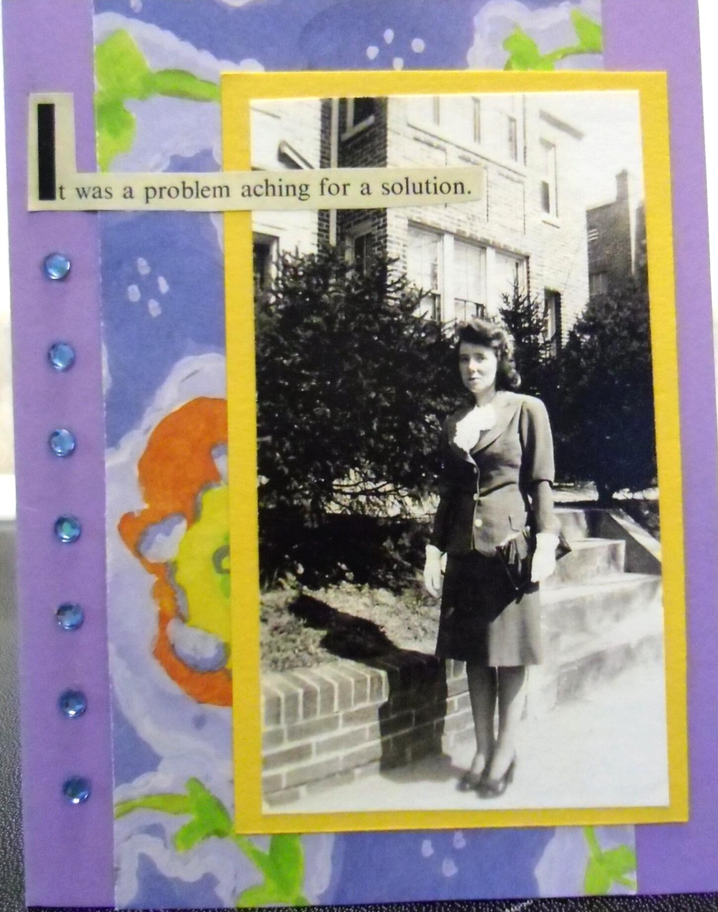 handmade cards, collage art