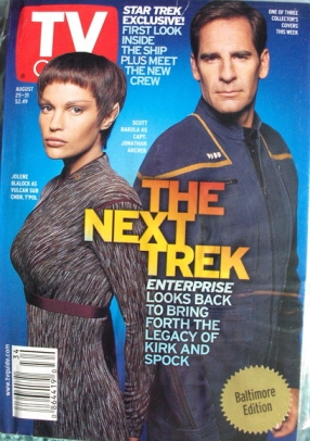 Jonathan Archer, T'Pol, Scott Bakula, Jolene Blalock, TV Guide, Star Trek Enterprise