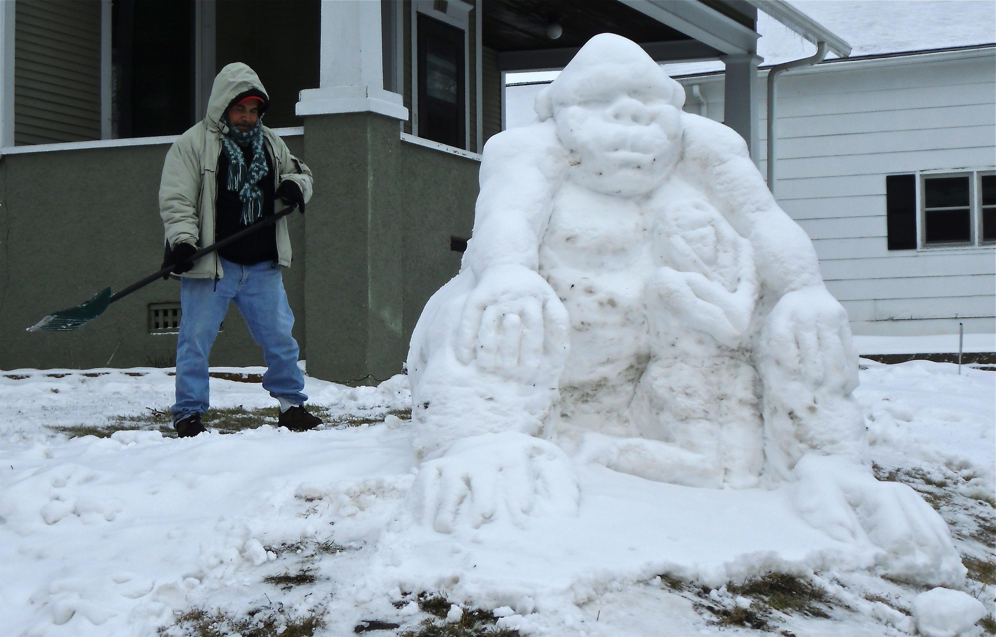animal snow sculptures - photo #9