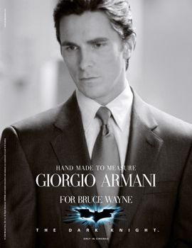 Christian Bale, Bruce Wayne, Batman, fiction, Armani