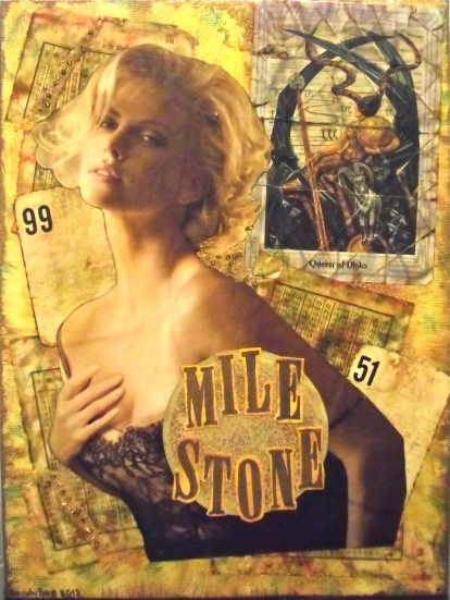 Collage Art, Charlize Theron, weight loss