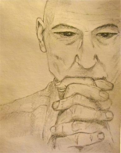 Sketch Portrait Patrick Stewart