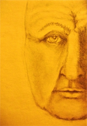 sketch drawing of a face