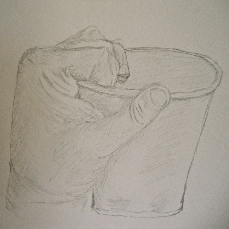 Sketch of Hand and Cup