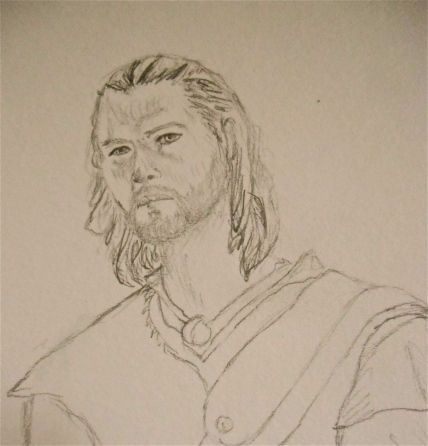 Drawing Sketch Huntsman from Snow White and the Huntsman