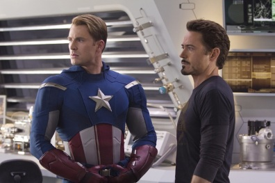 Avengers, Captain America, Iron Man, Chris Evans, Robert Downey Jr