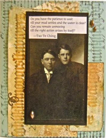 Collage art, greeting card art