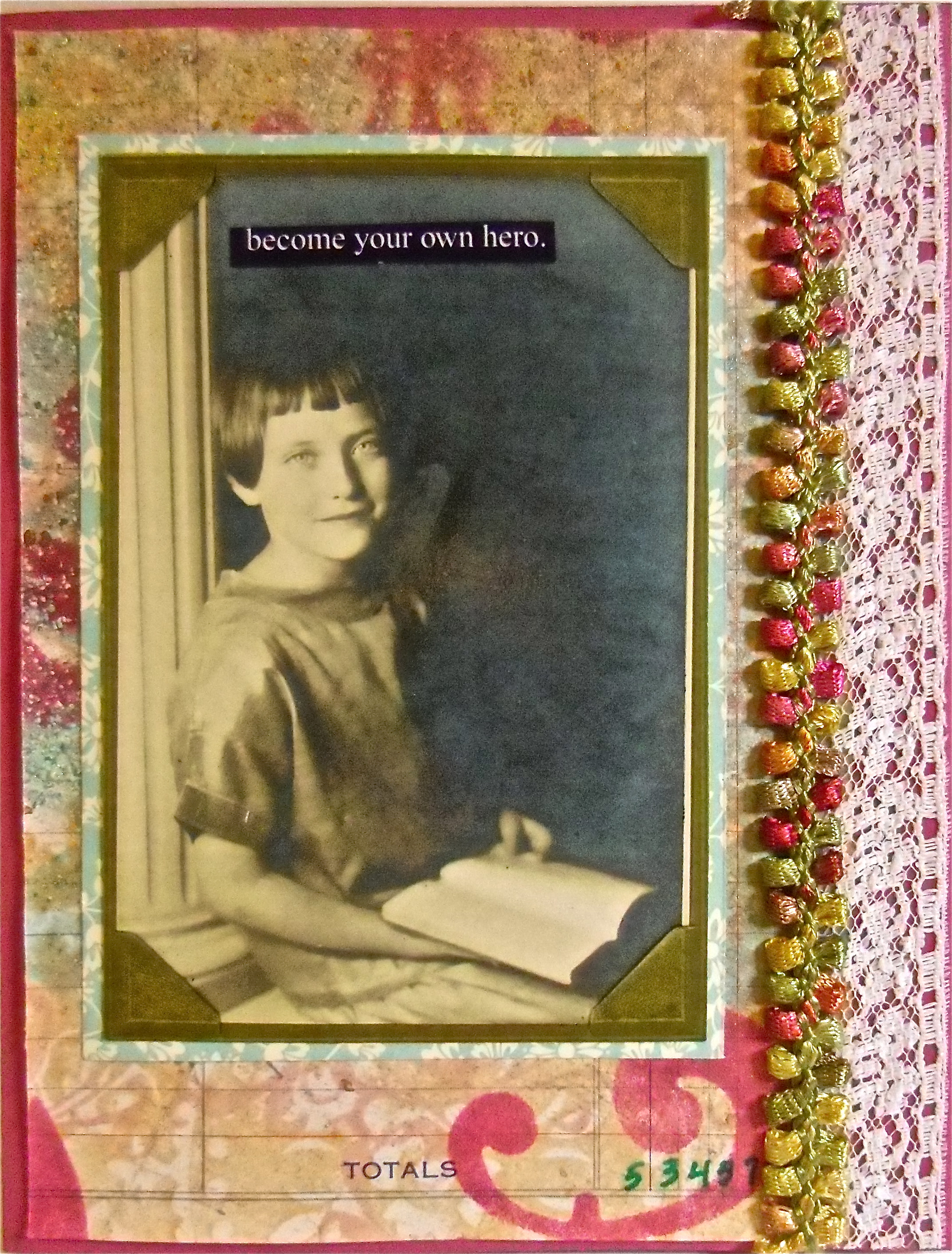 collage art, hand-made greeting card