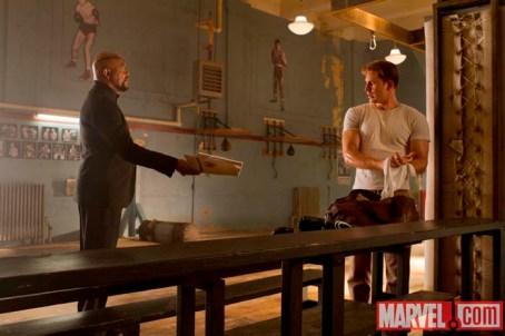 Nick Fury, Steve Rogers, Avengers, Samuel L. Jackson, Chris Evans