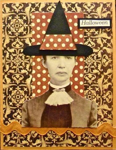 handmade cards, collage art