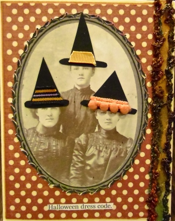 hand made cards, collage art