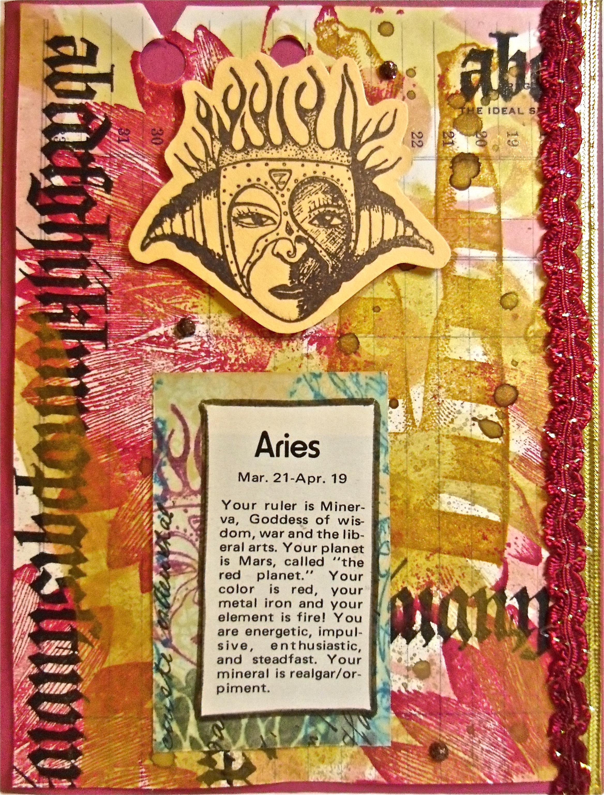 handmade card, collage art