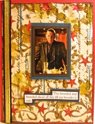 handmade cards, collage art, Leonard Nimoy