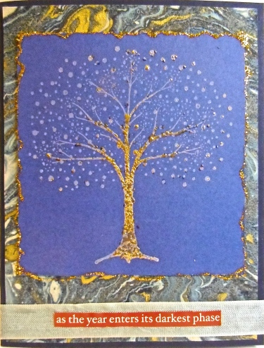 handmade greeting cards, collage art, Solstice