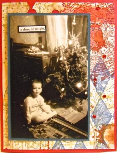 handmade cards, collage art, Christmas