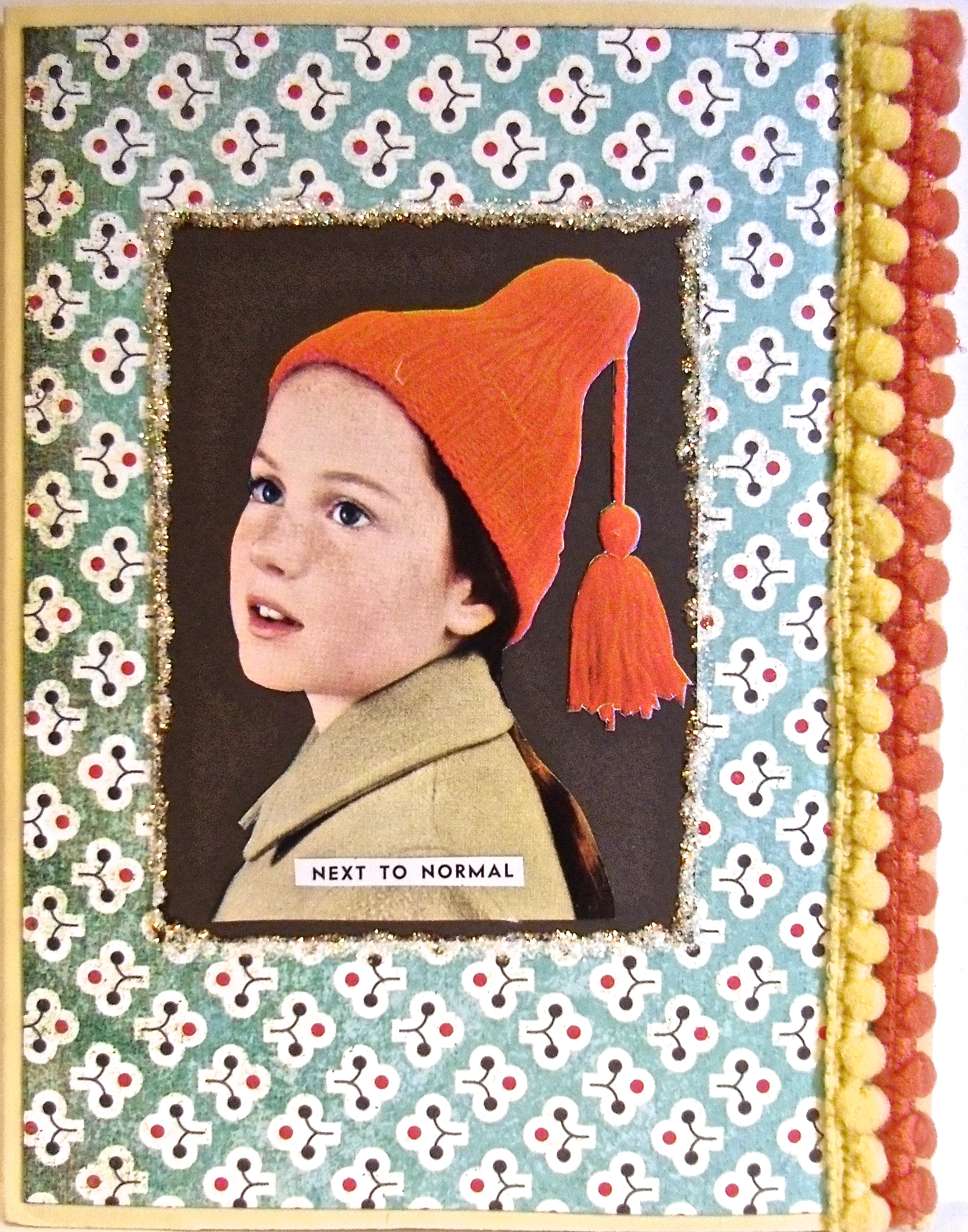handmade greeting cards, collage art,
