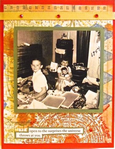 handmade greeting cards, collage art, Christmas