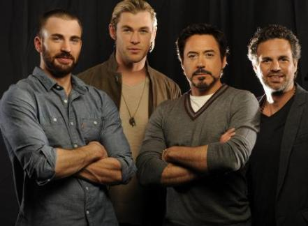 Chris Evans, Chris Hemsworth, Robert Downey Jr, Mark Ruffalo, Avengers