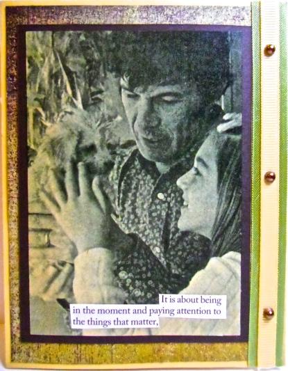 handmade greeting cards, collage art, Leonard Nimoy