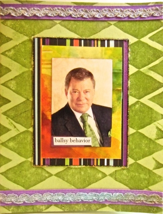 handmade greeting card, Star Trek, William Shatner, collage art