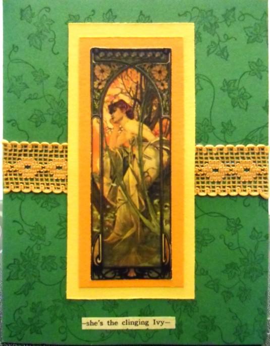 handmand greeting card, collage art