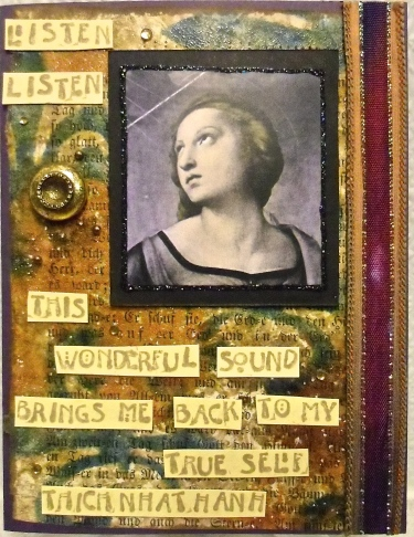 handmade greeting card, collage art