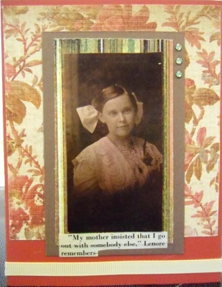 handmade greeting cards, collage are, vintage photo