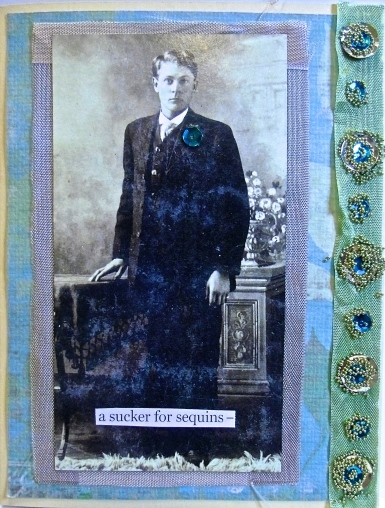 handmade greeting card, collage art