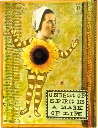 handmade greeting cards, collage art