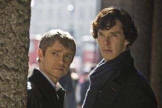 Martin Freeman, Benedict Cumberbatch, John Watson, Sherlock Holmes, BBC Sherlock
