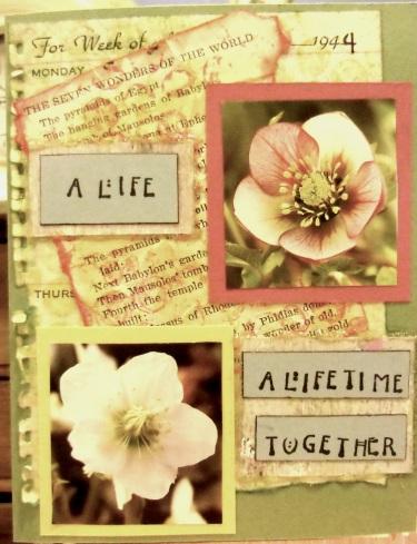 handmade greeting cards, collage art