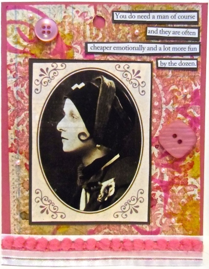 handmade greeting cards, collage art, Valentine