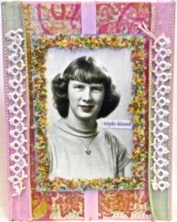 handmade greeting card, Valentine, collage art