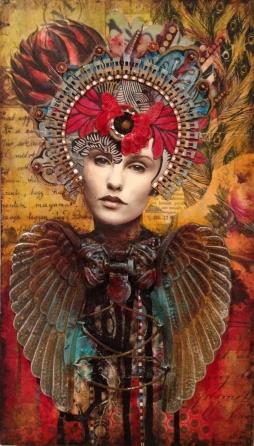 Original Artwork of Collage Assemblage Artist Andrea Matus deMeng